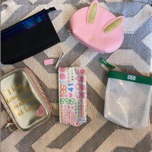 Bundle variety of cosmetic bags